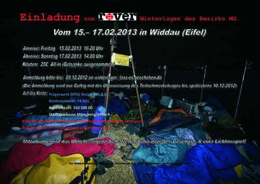 Einladung zum   Winterlager des Bezirks MG